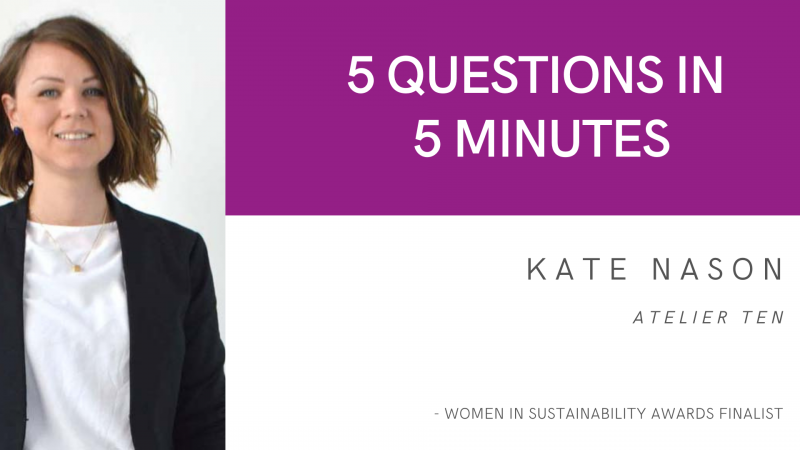 5 Questions in 5 Minutes: Kate Nason