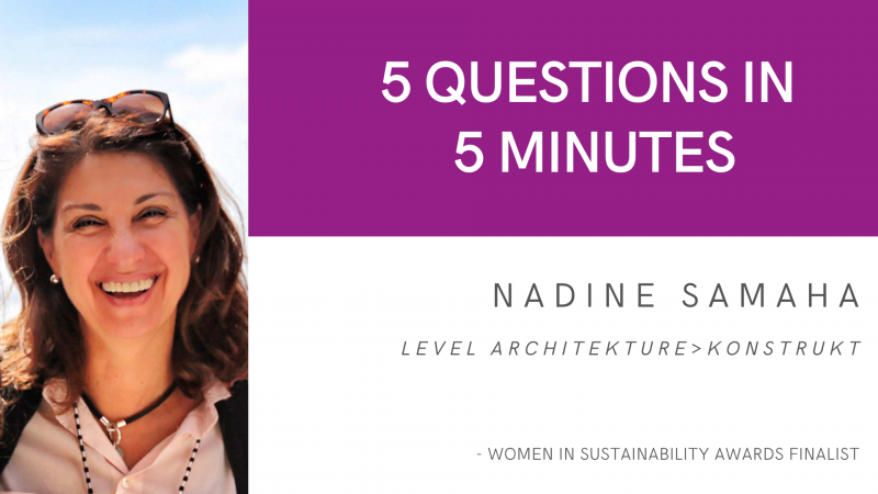 5 Questions in 5 Minutes: Nadine Samaha